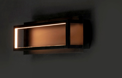 ET2 4 Square LED Wall Sconce in Black