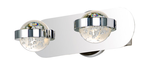 ET2 Cosmo 2-Light LED Bath Vanity in Polished Chrome