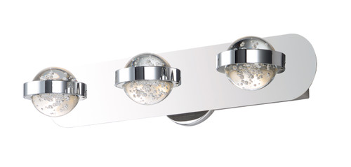 ET2 Cosmo 3-Light LED Bath Vanity in Polished Chrome