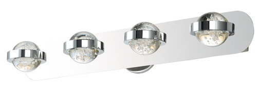ET2 Cosmo 4-Light LED Bath Vanity in Polished Chrome