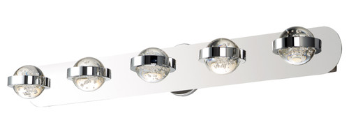 ET2 Cosmo 5-Light LED Bath Vanity in Polished Chrome