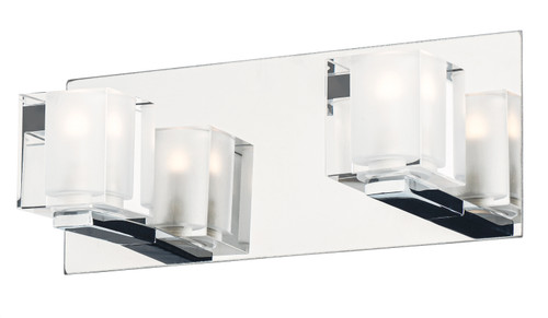 ET2 Blocs 2-Light LED Wall Sconce in Polished Chrome