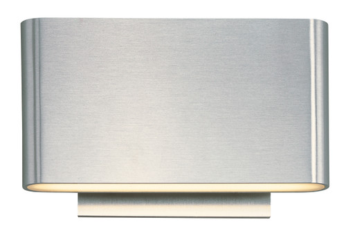 ET2 Alumilux: Spartan LED Outdoor Wall Sconce in Satin Aluminum