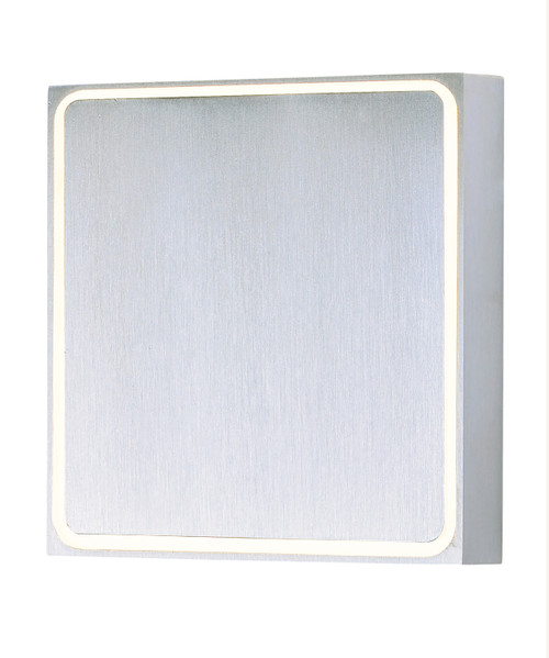 ET2 Alumilux: Outline LED Outdoor Wall Sconce in Satin Aluminum