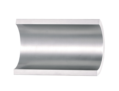 ET2 Alumilux: Diverge LED Outdoor Wall Sconce in Satin Aluminum