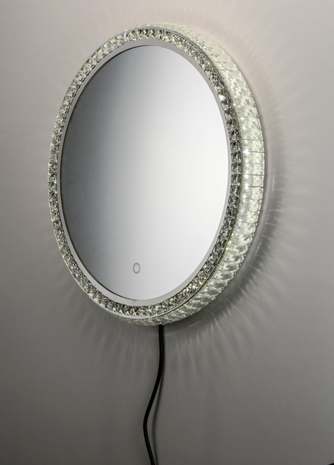 "ET2 24"" Round Crystal LED Mirror in NA"