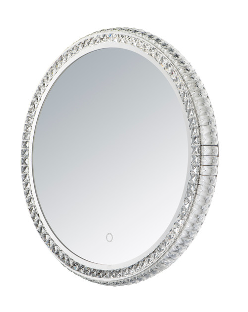 """ET2 24"""" Round Crystal LED Mirror in NA"""
