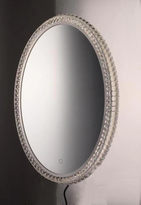 """ET2 24"""" x 31.5"""" Oval Crystal LED Mirror in NA"""