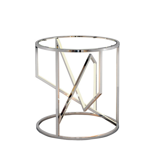 ET2 Trapezoid LED End Table in Polished Chrome