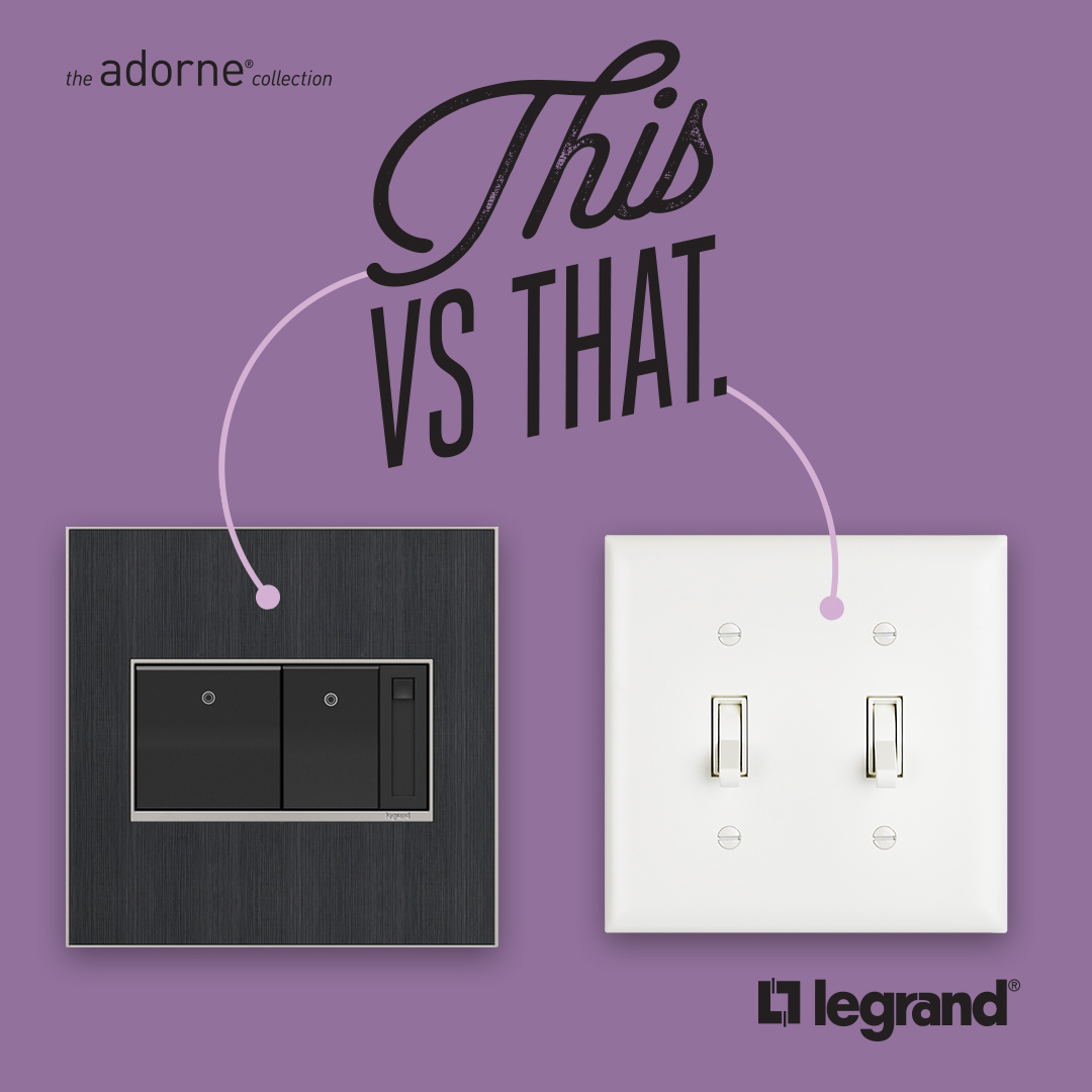 Add the finishing touches to your home by replacing your boring old wall plate with this refreshed look from adorne.