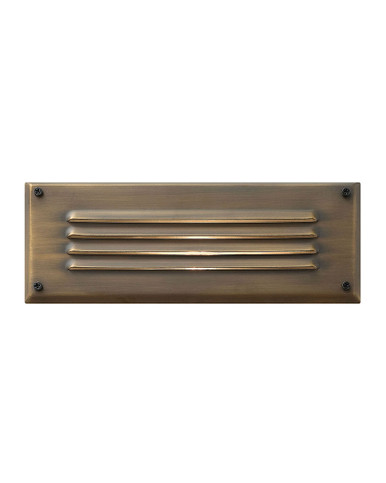 Hinkley Landscape Hardy Island Collection Hardy Island Louvered Led Brick Light In Matte Bronze 1594mz Ll The Light Brothers
