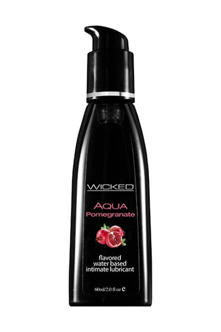 Wicked AQUA POMEGRANATE Flavoured Lube - 60ml