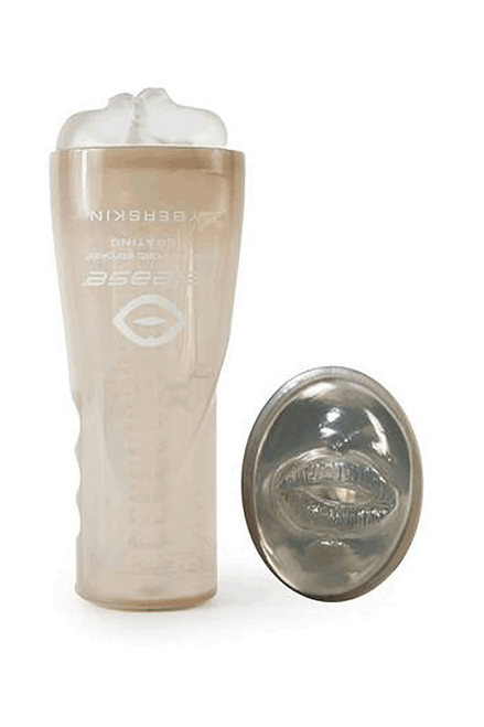 Cyberskin® Release™ Mouth Stroker - Clear - Vibrating