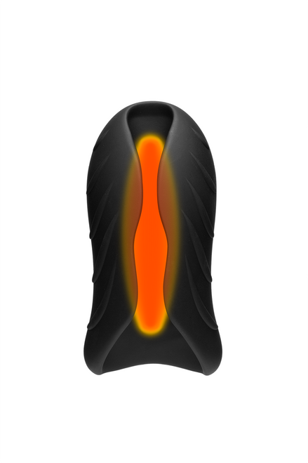OPTIMALE™ - SECONDSKYN™ SILICONE WARMING STROKER - VIBRATING - RECHARGEABLE