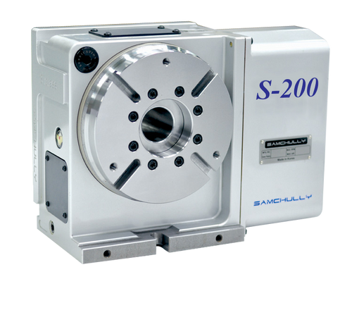 Samchully S-200i rotary indexer with standard right-hand motor