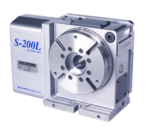 Samchully S-200i rotary indexer with left-hand motor