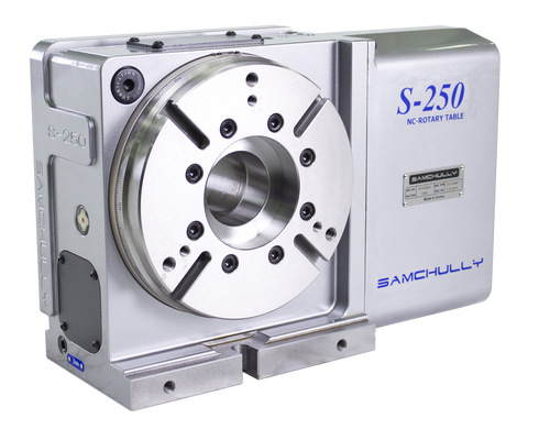 Samchully S-250i rotary indexer with standard right-hand motor