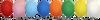 Variedad de colores de Globos