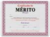 Certificado de Merito 8.5 x 11 Full Color