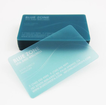 Frosted Business Card Full Color  .020 Round Corners