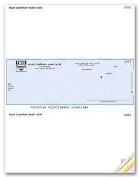 Cheque laser - Original con cheque en el medio, talonario arriba y abajo .