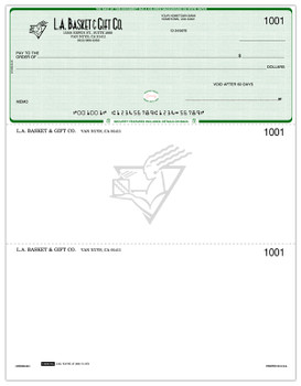 Ejemplo de cheque con logo y watermark. (Es para propositos de ilustracion)