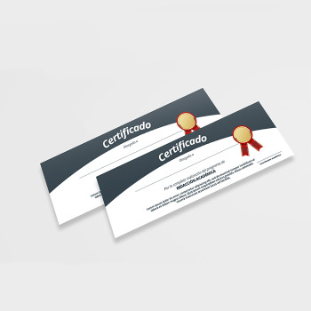 50 Certificados 11 x 3.66 Full Color 100 Libras Dull Entrega Gratis