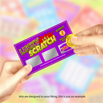 """20K Scratch Off Cards 2"""" x 3.5"""" con Data Variable Entrega Gratis"""