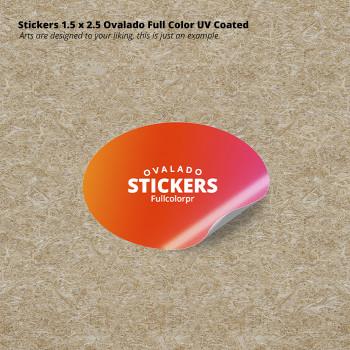 Stickers 1.5 x 2.5 Ovalado Full Color UV Coated Entrega Gratis todo Puerto Rico