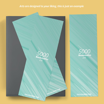 5000 Bookmarks 2x6 Full Color UV Coated