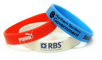 """Silicone Wristbands 1/2"""" One Color Imprint"""