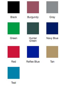 Standard Colors Chart
