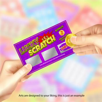 """5K Scratch Off Cards 2"""" x 3.5"""" con Data Variable Entrega Gratis"""