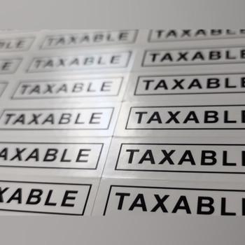 1000 Sheets 8 1/2 x 11 / 110 Stickers per sheet White Rectangular 1.5 x .477 Black Imprint