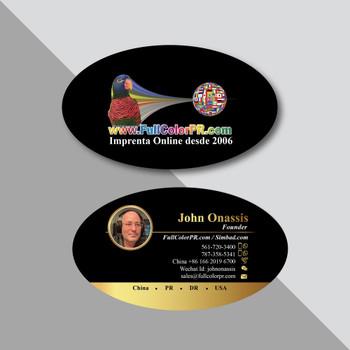 Tarjetas Plásticas Ovaladas 2x3.5 Entrega Gratis Puerto Rico