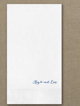 Servilleta para Invitados de 4 1/4 x 8 1/4 con Impreso Foil .