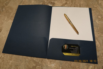 Folder Impreso Foil en 80 Libras Cartulina Hilo Entrega Gratis Puerto Rico