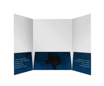 Tri-Panel Folder 9 x 12 Full Color  - Several styles to choose from