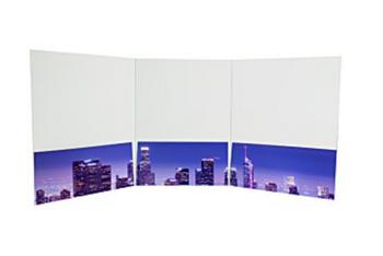 Folder 9 x 12 Tres Paneles Full Color  - Varios modelos a escoger