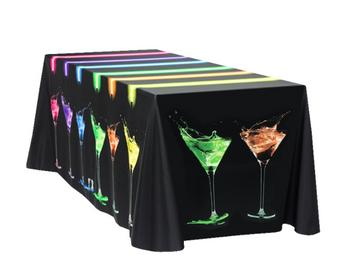 Mantel Full Color- Custom para mesa de 6' de 4 lados