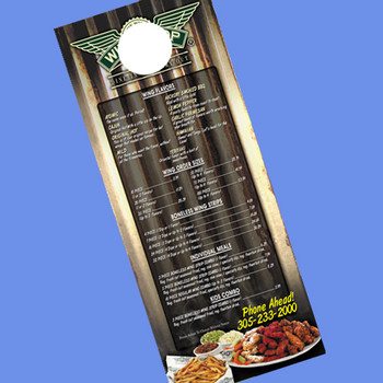 1000 Door Hangers 4.25 x 11 UV Coated