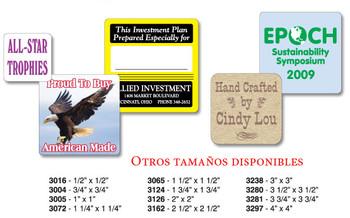 Labels Cuadrados / Variedad de Materiales y Colores de Impresión Ordenelo en: www.fullcolorpr.com  Imprenta PR