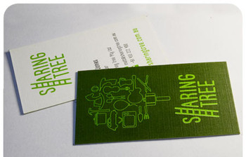 Full Color Business card in Linen