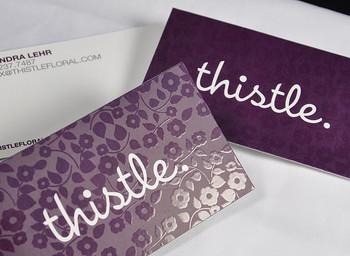 Business Cards Spot UV / Dull/Matte 16pt Square Corners