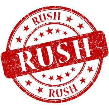 Este producto incluye servicio de produccion y entrega Rush.