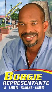 Borgie, Representante PNP • Ejemplo de campaña política en Puerto RIco