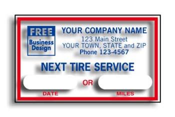 NEXT TIRE SERVICE Service Sticker