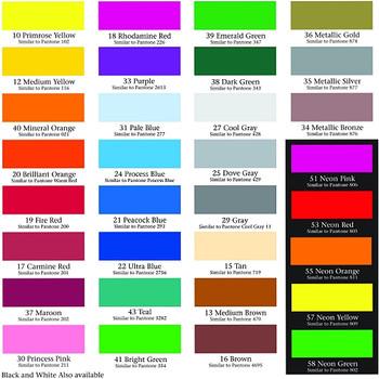 Tabla de Colores Standard