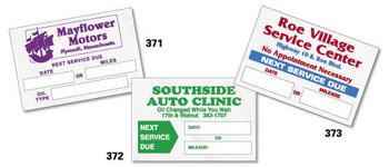 Service Sticker  Static Cling