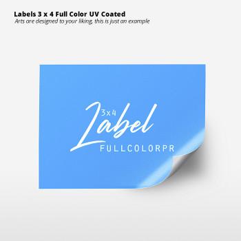 Labels 3 x 4 Full Color  UV Coated Entrega Gratis todo Puerto Rico